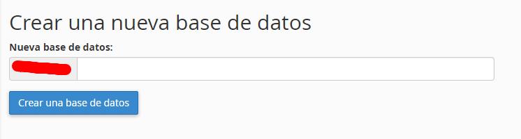 creacion base datos