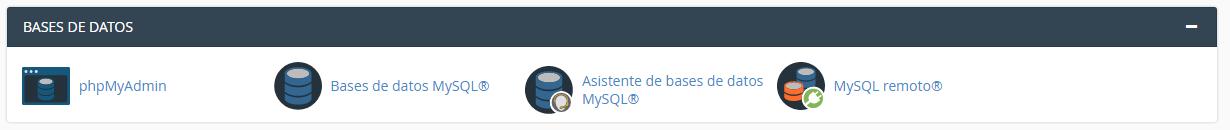 Crear nueva base de datos Mysql desde CPanel